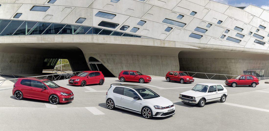 Volkswagen feiert den 40. Geburtstag des Golf GTI