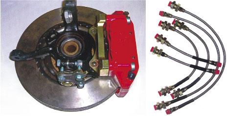 305 mm-es Seat Cupra Brembo szett és fémszövetes tömlők