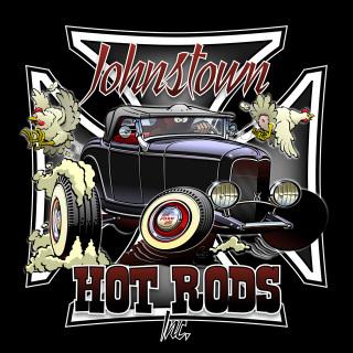 Hot Rod szimbólum 34-es Forddal, vaskereszttel