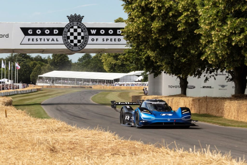 VW ID.R at the circuit of Goodwood Festival of Speed